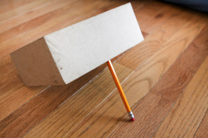 box trap with pencil